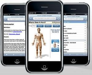 A.D.A.M. Symptom Navigator iPhone Application