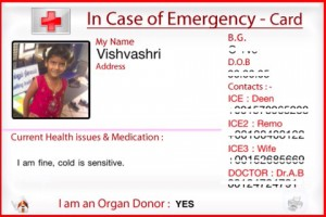 In Case of Emergency iPhone Application