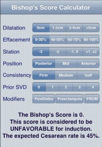 Bishop's Score Calc iPhone Application