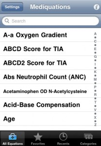 Mediquations iPhone Application