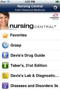 Nursing Central iPhone Application